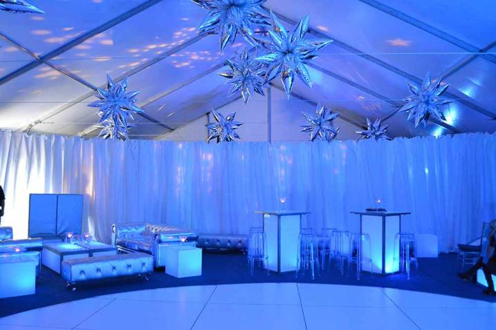 large-round-white-dance-floor