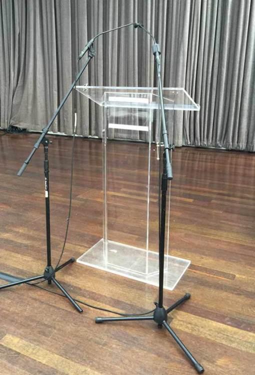 Acrylic-Podium-microphones