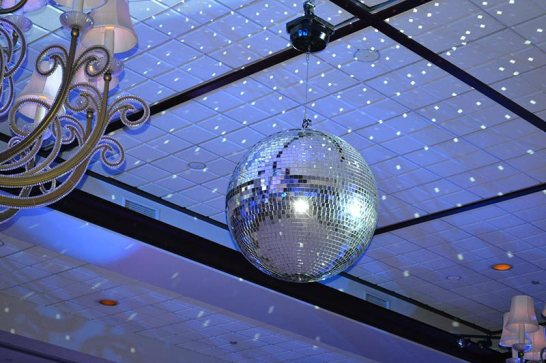 disco ball prop with night star lighting