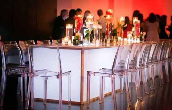 Illuminated White Acrylc Tables