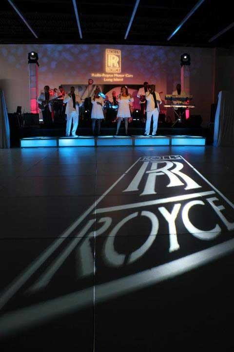 Rolls-Royce-logo-projected-on-dance-floor