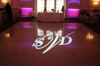 Wedding-monogram-in-lights-on-high-gloss-dance-floor