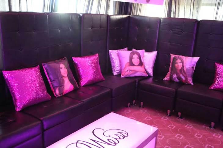 Customized-pillows-on-black-lounge-furniture