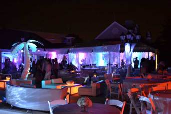 Country-Club-Event-Production-Palm-Tree-Prop-Privacy-Booths-and-Event-Furniture