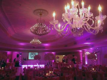 Sweet-16-Event-Production-Chandeliers-Tables-Chairs-Centerpieces-and-Lighted-Ceiling
