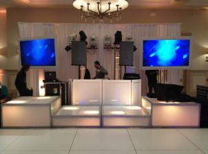 IGO-Corporate-Event-with-White-Portable-Dance-Floor-LED-Stage-Decks-and-Video-Screens