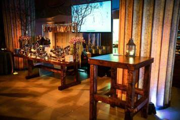 Rustic-tables-and-decor-with-video-screen