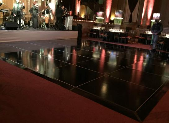 Portable-black-glossy-dance-floor