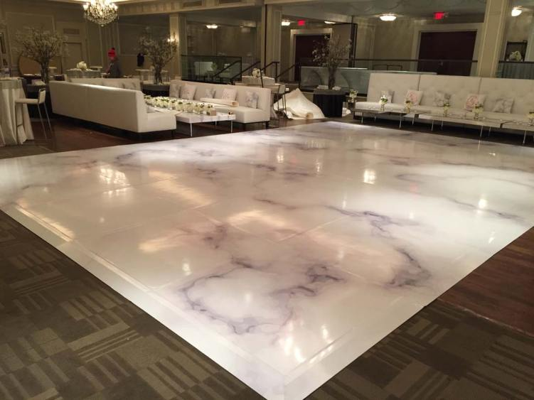 Portable-dance-floor-that-looks-like-white-marble