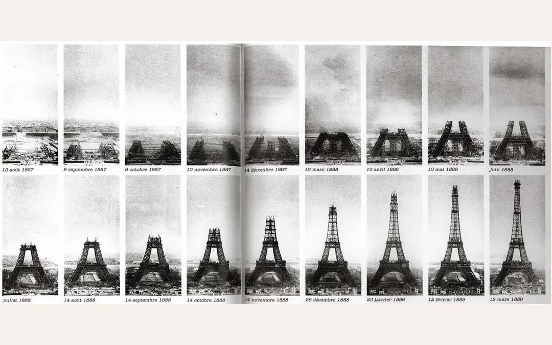 Construction Paris Tour Eiffel