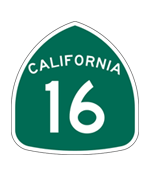 California Highway 16 sign