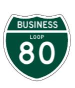 Business Loop 80 sign