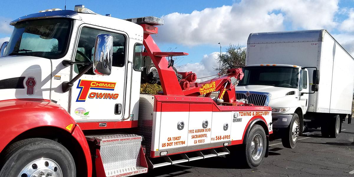 Medium duty bobtail tow truck