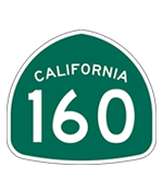 California Highway 160 sign