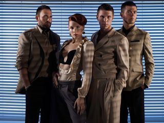 Scissor Sisters blue blinds