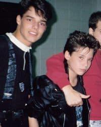 Darrin McGillis and Menudo backstage tour Photo