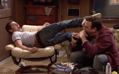 Gay toe sucking