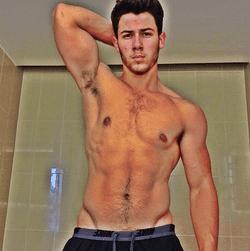 Nick Jonas Shirtless Selfie