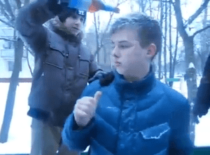 Russian Homophobes Attack With Urine