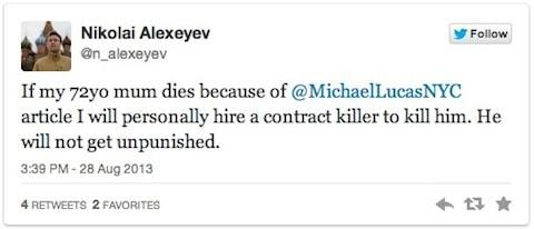 Alexeyev Tweet