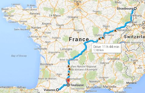 Strasbourg to Vieuzos
