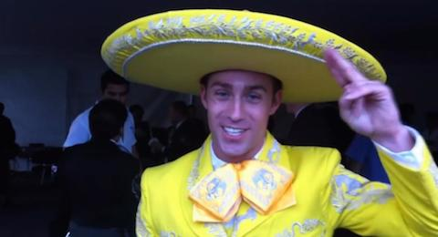 William Kane yellow mariachi suit