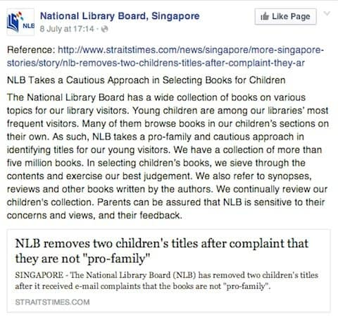 Singapore library books banned1