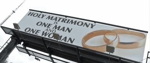 Anti Gay Marriage Billboard