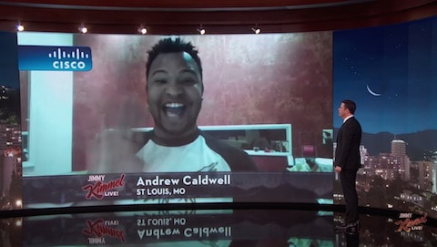 Andrew Caldwell and Jimmy Kimmel