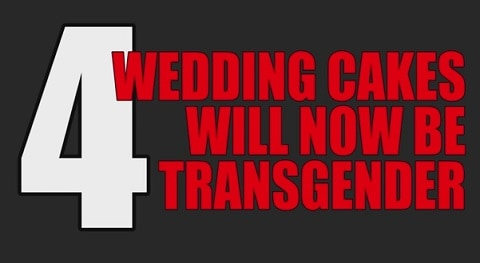 Trans wedding cake