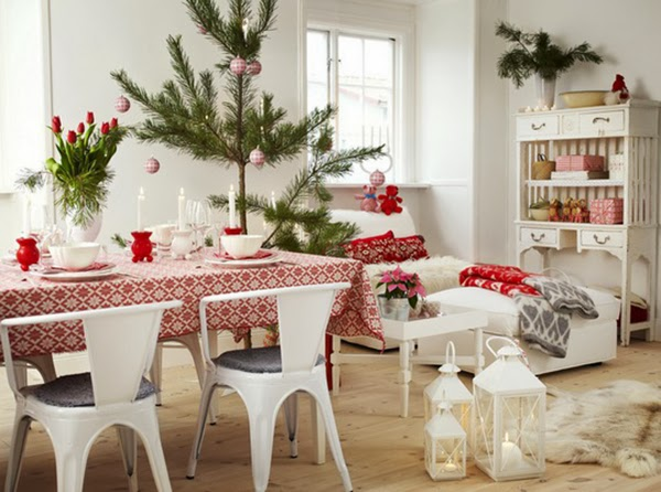 Red And White Scandinavian Christmas  Town & Country Living