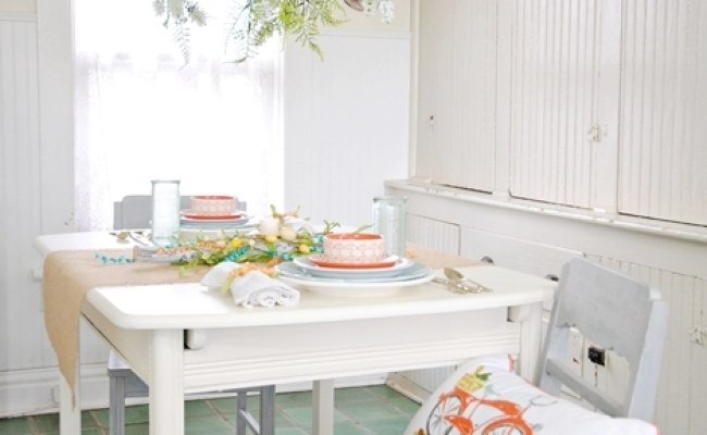 Home Tour Celebrating Spring With Pops Of Coral Town
