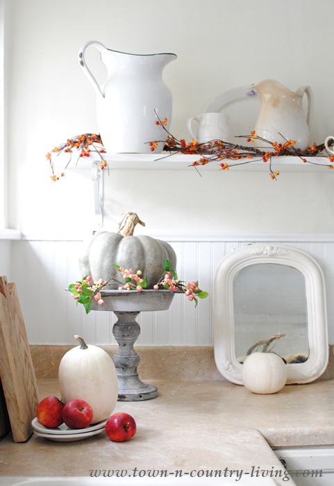 fall kitchen decor silver cabinet knobs simple decorating in the town country living