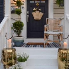 Swing Chair Home Town Oak Rocking Summer Porch Inspiration - & Country Living