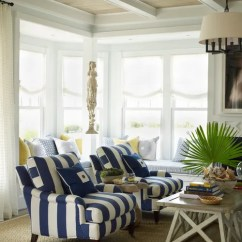 Beach Style Living Room Decor French Provincial Set Decorating With Navy Blue - Town & Country
