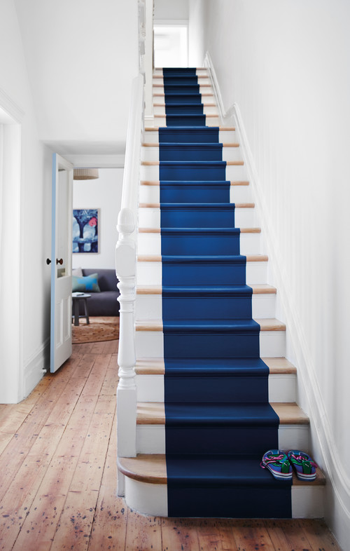 Cute Colour Wallpaper Painted Staircase Ideas And Inspiration Town Amp Country
