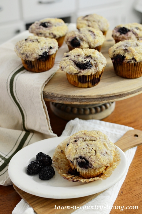 Blackberry Lemon Muffins Baked with Ricotta Cheese