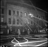 Firefighters attempt to extinguish the blaze (courtesy of FDNY)