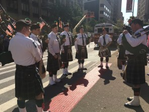 FDNY bagpipers at the Flatiron Plaza