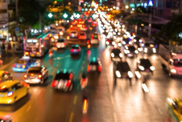 Blurred City Traffic