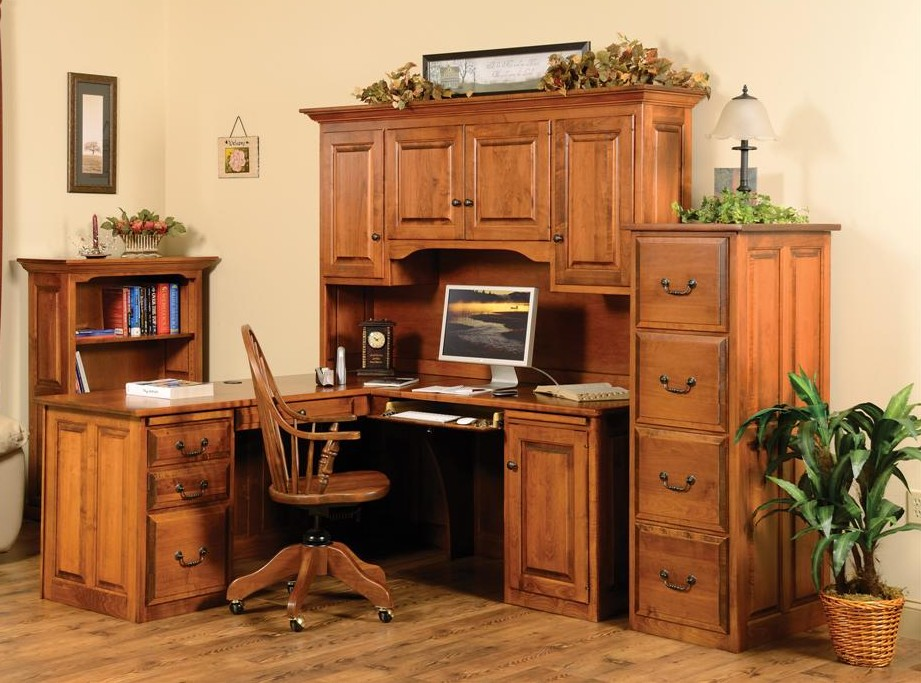 Corner Executive Desk with Hutch  Town  Country Furniture