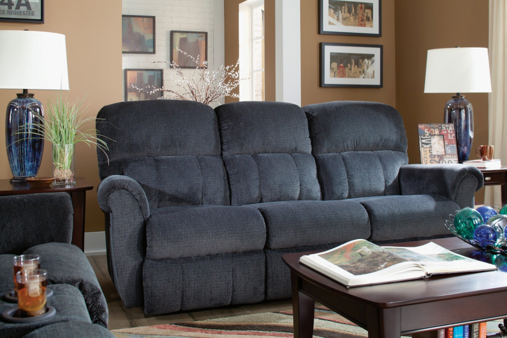 lazy boy sofa recliner reviews bernhardt leather la-z-boy briggs reclining - town & country furniture
