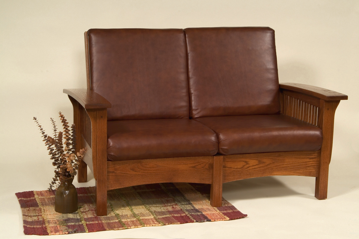 amish built sofa tables sure fit stretch pique t cushion two piece slipcover mission town and country furniture