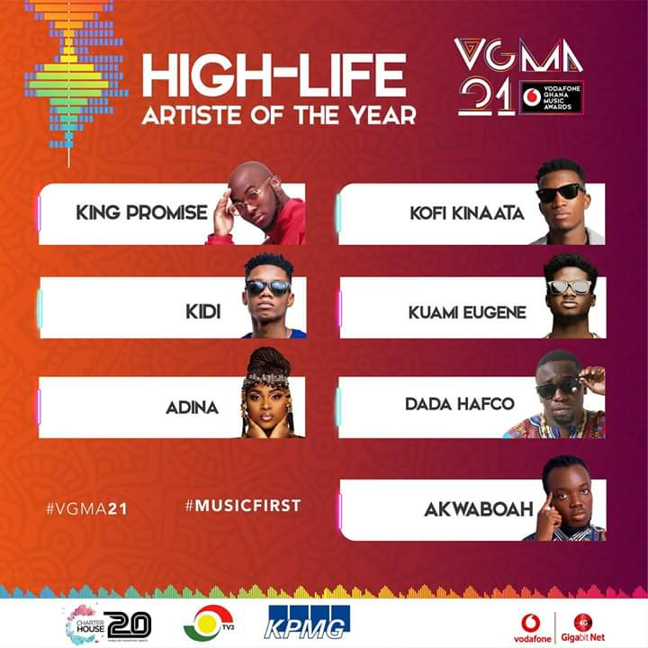 Kuami Eugene Wins Highlife Artiste of the Year at VGMA 2020