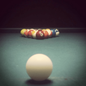 Pool table at The Townie