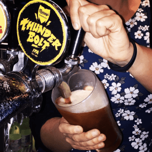 Craft Beer Schooner at Town Hall Hotel Newtown