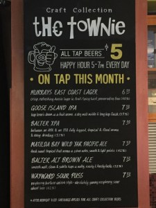 The Townie monthly craft beers