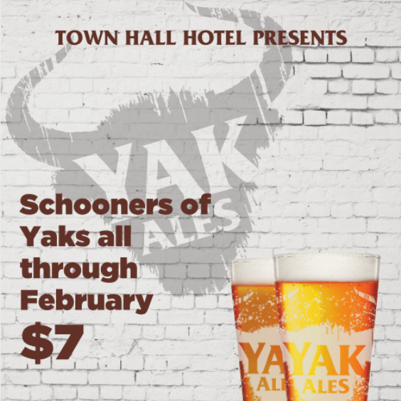 Yak Promotion Town Hall Hotel Newtown