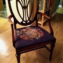 Antique Needlepoint Chair Baby Einstein Diy Needlework Protectors  Townhomestead