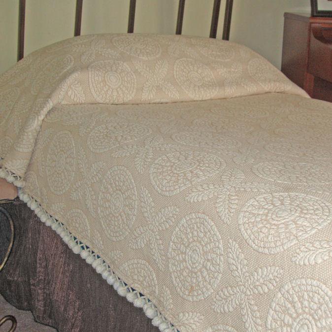 Heritage Chenille Matelasse Coverlet Townhouse Linens